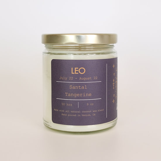 Leo, Zodiac Candle