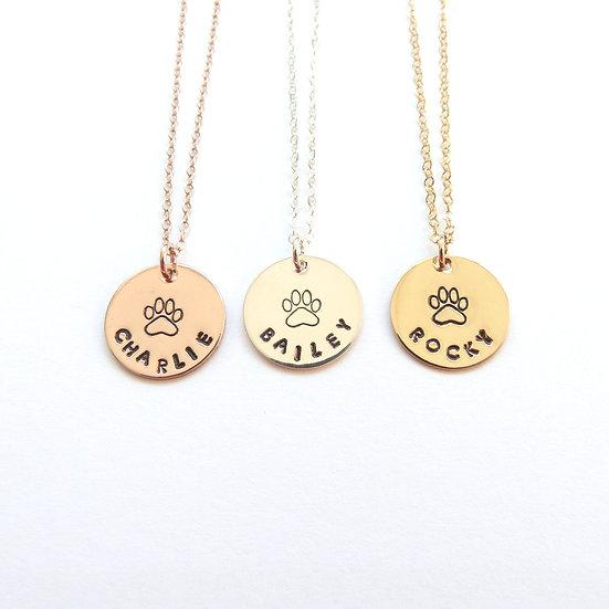 Dog Mom Necklace Pet Memorial Jewelry