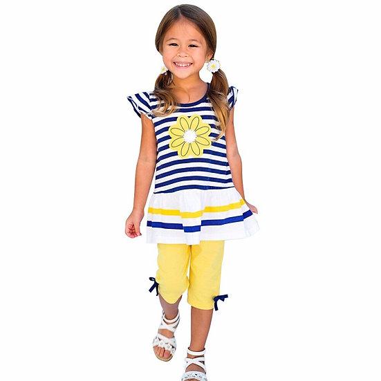 Hot Sale Kids Girls Clothes Set Summer T