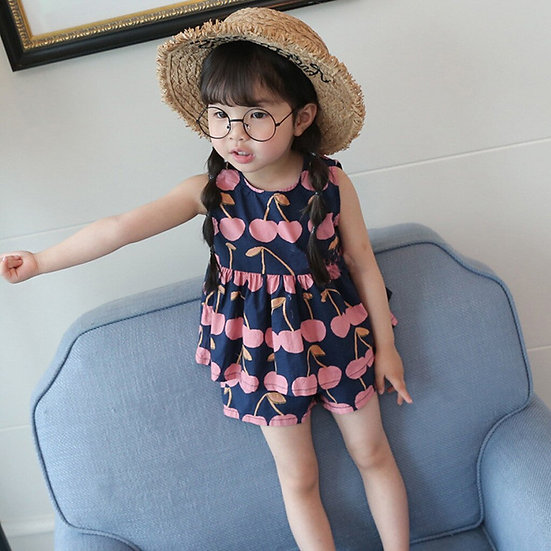 Fashion Kids Baby Girl Fruit Print
