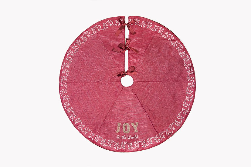 "ML17133 Joy to the world Tree Skirt, 56""Rnd"