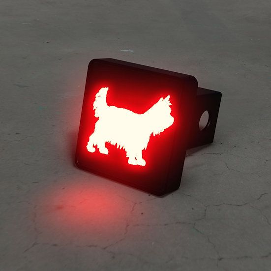Yorkshire Terrier LED Brake Hitch Cover