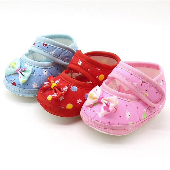 First Walker Newborn Baby Bow Girls Soft Sole