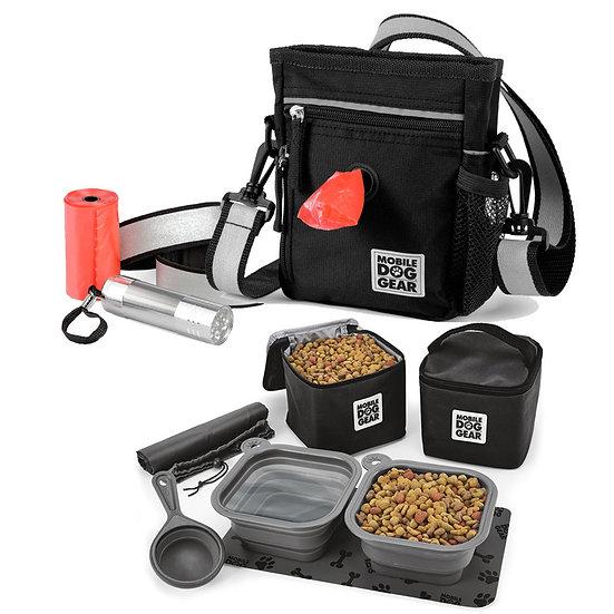 MDG Bundle: Day/Night Walking Bag and MDG Dine Away Set (Black)