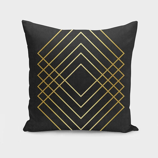Minimalist and golden art I Cushion/Pillow
