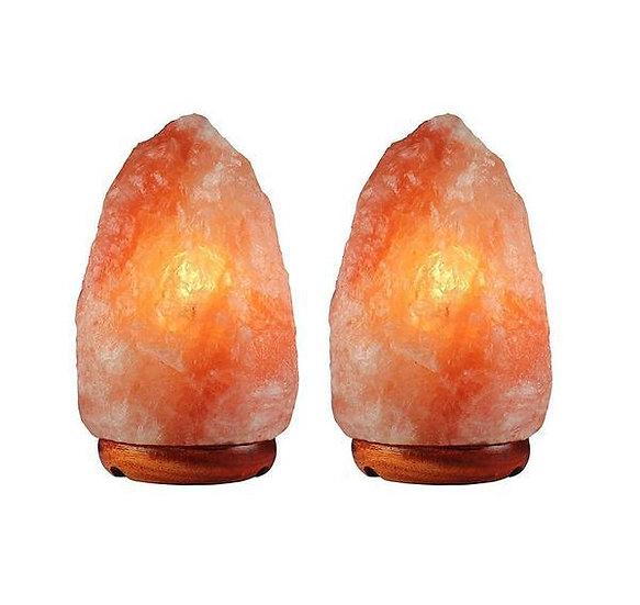 2 Pack Natural Himalayan Salt Lamp, 3-6 lbs