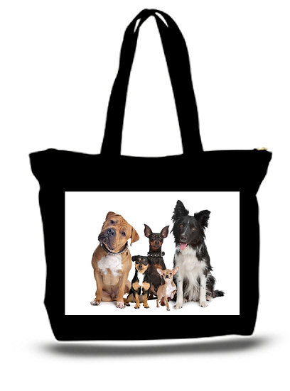 Large  Tote Grocery & Stuff Bag Rescue A Dog Pets