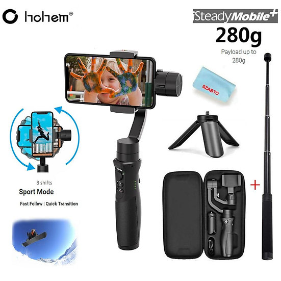3-axis handheld gimbal stabilizer payload 280g for smartphone Pk