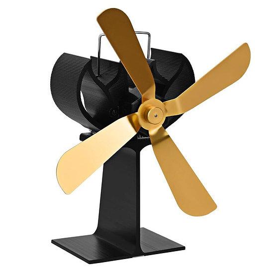 Home 4 Blades Quiet Fireplace Fan Heating Furnace