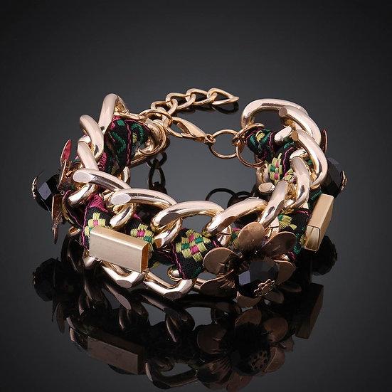 Flower 18K Gold Plated Bracelet