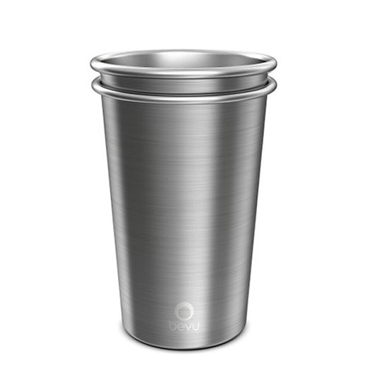 Bevu® FIESTA Steel Cups (2) Steel 470ml / 16oz.