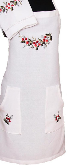 XD108059 Holly Berry Apron