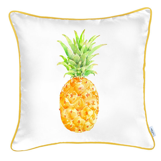 """Tropical Pinapple Square 18"""" Throw Pillow Cover"""