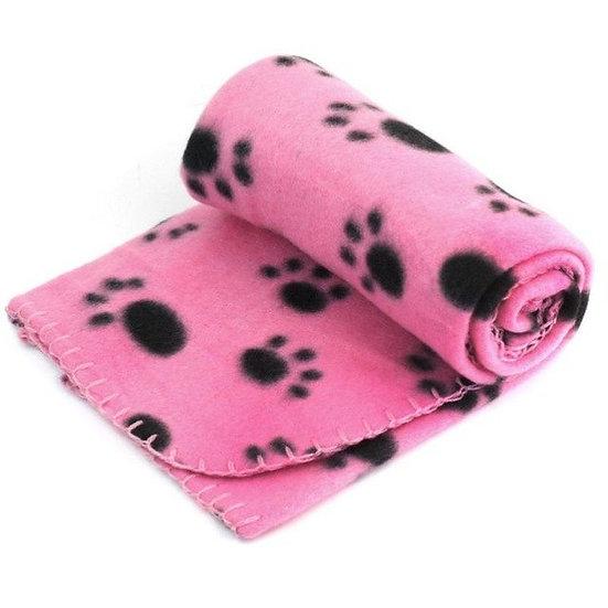 Lovely Pets Mat Design Paw Print Soft Warm Fleece