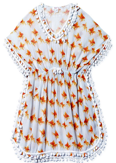 Cover-up Poncho with Goldfish