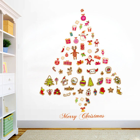 Stickers Merry Christmas Background Wall