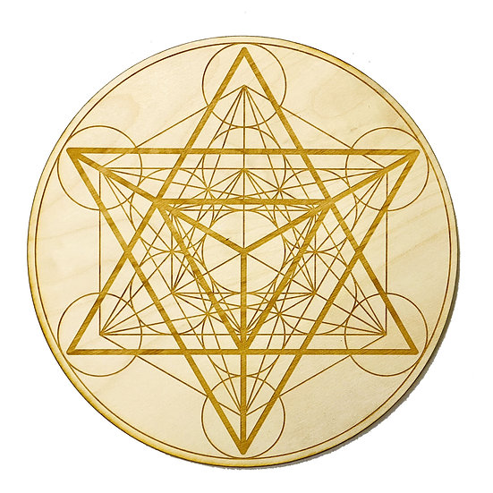 Merkaba Metatron's Cube Crystal Grid