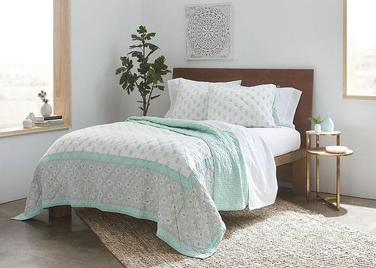 100% Long Staple Cotton Voile Block Printed Quilt