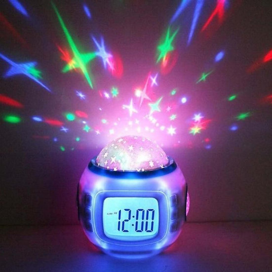 LED Digital Alarm Clock Snooze Starry Star Glowing