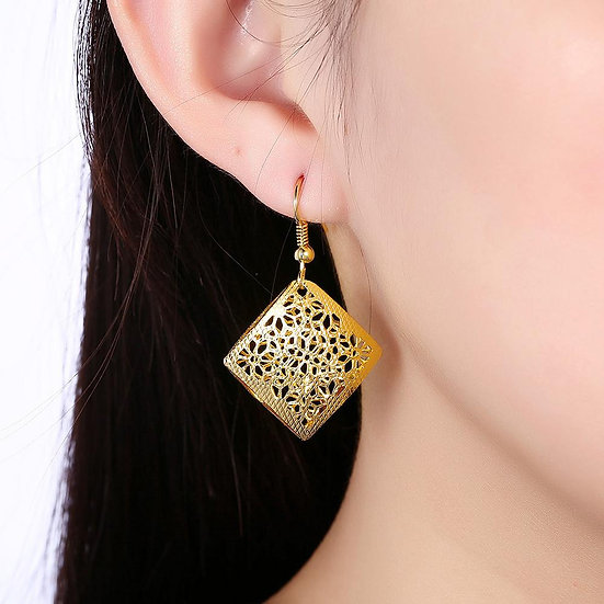 Málaga Drop Earring in 18K Gold Plated