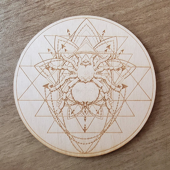 Spider Sri Yantra Crystal Grid
