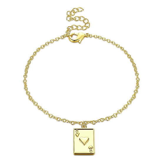 QUEEN of Hearts Bracelet in 18K Gold Plated
