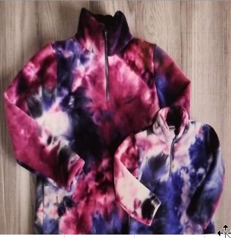 Blue and purples quarter zip fleece [PREORDER]