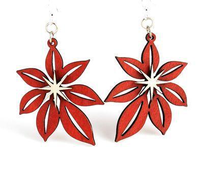 Poinsettia Earrings # 1279