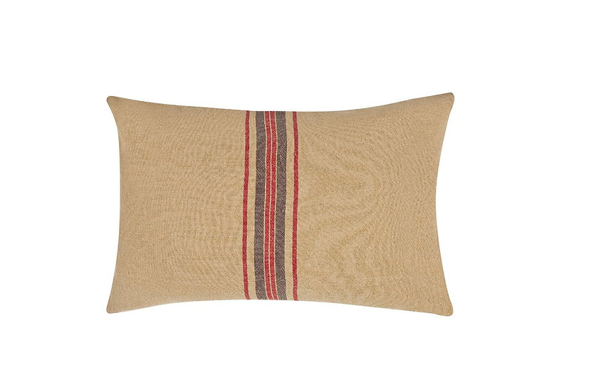 XD15008 Natural Linen Stripe Pillow
