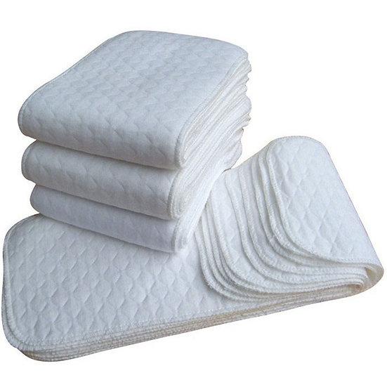 New 10 Pcs Baby Cotton Washable Reusable Soft