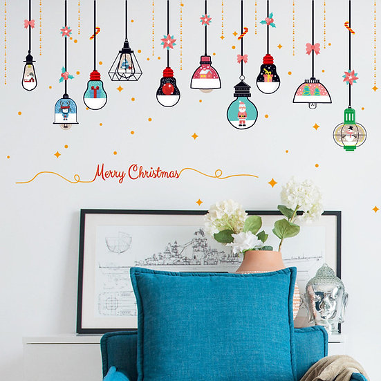 Merry Christmas Restaurant Wall Stickers Mall