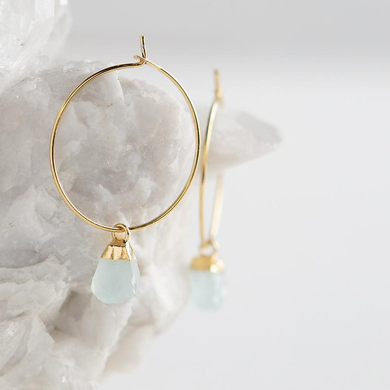 Bella Earrings-Aqua Chalcedony