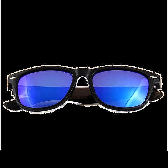 Real Ebony Wood Wanderer Style Sunglasses by WUDN