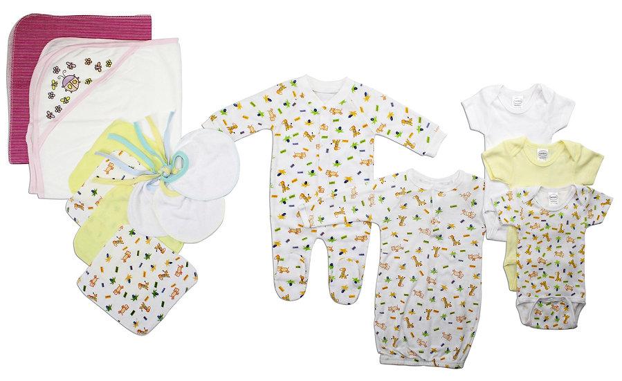 Newborn Baby Girls 14 Pc Layette Baby Shower Gift