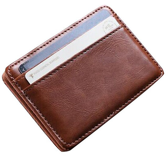 Mini Leather unisex women men Wallet Wallet ID