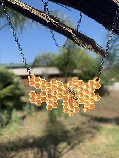 Honeycomb Necklace #6101