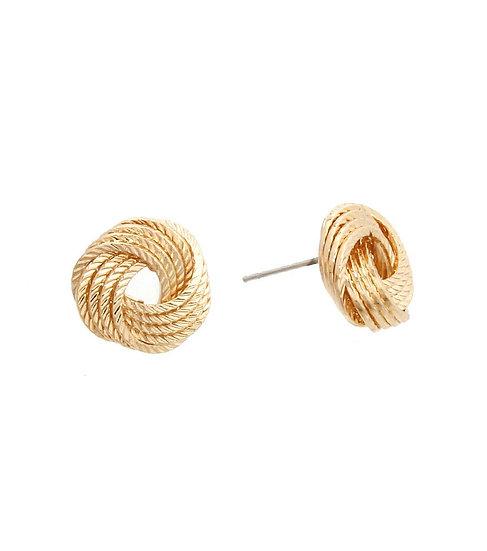 Simple Metal Stud Earrings