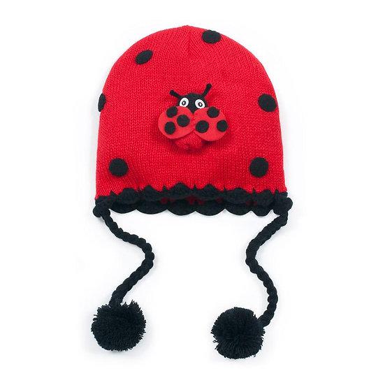 Ladybug Knit Hat