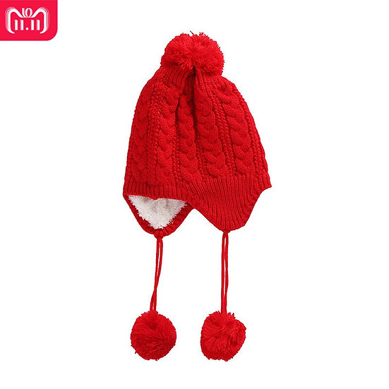 Children Baby Hat Warm Autumn Winter Crochet Wool