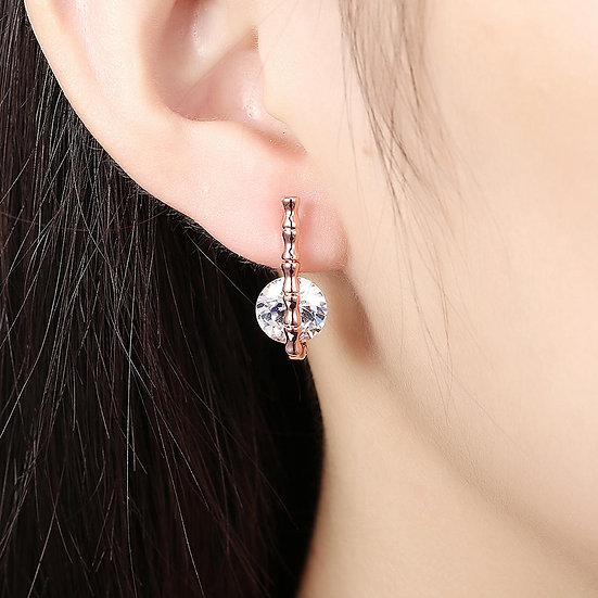 Leverback Earring in 18K Rose Gold Plated