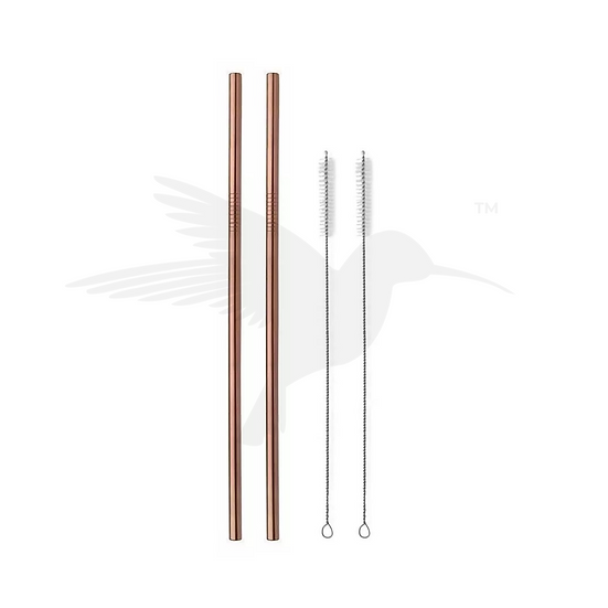 Hydrate Straws Rose Gold Set of 2