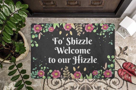 Doormat Door mat Welcome Mat Housewarming Gift Fo'