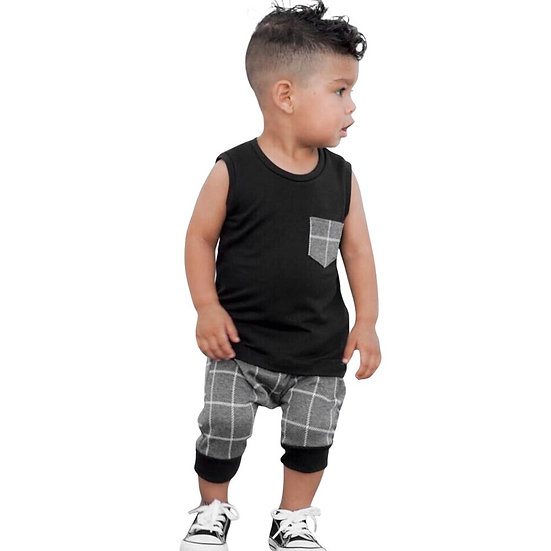 New Summer Infant Toddler Clothes Set Baby Boys