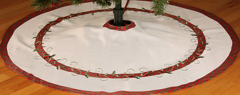 XD99904 Tartan Ribbon Tree Skirt, 48''Round