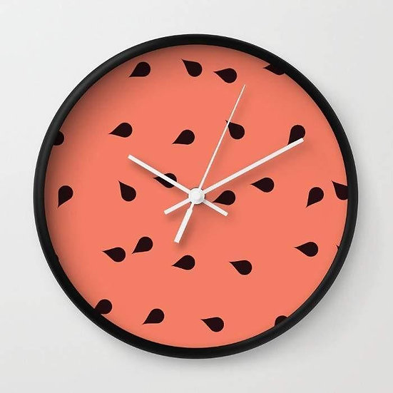 SCATTERED WATERMELON Wall clock