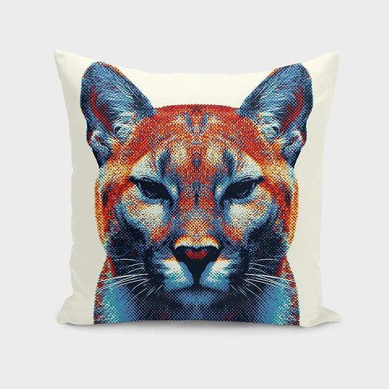 Puma - Colorful Animals  Cushion/Pillow