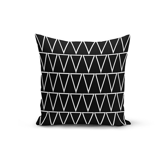 Black Triangles Pillow Cover