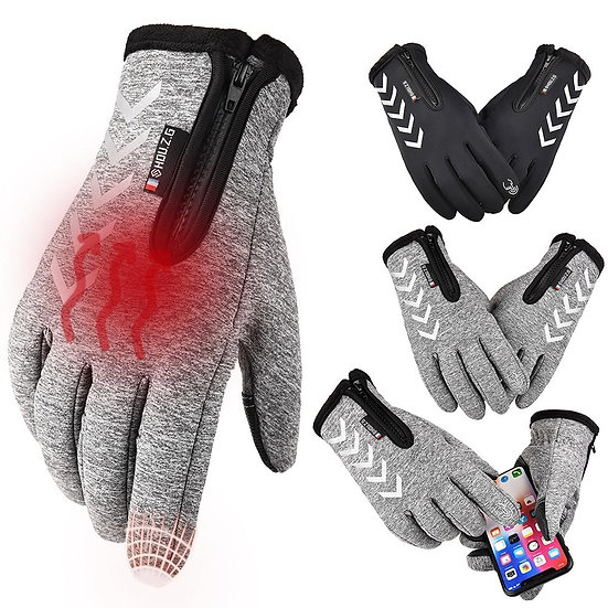 Winter Thermal Fleece Touchscreen Gloves Soft Fleece Gloves Cold