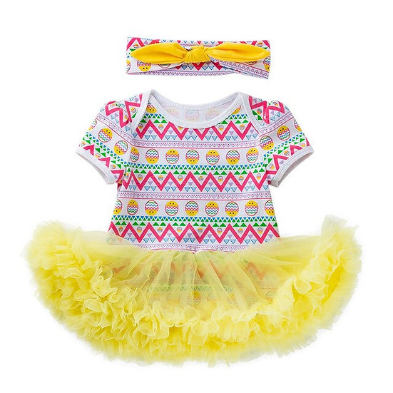 2pcs Toddler Newborn Headband+dress Baby