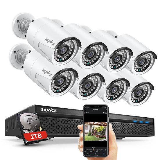 8CH POE 5M NVR Kit CCTV Security System 2MP IR Outdoor Waterproof IP